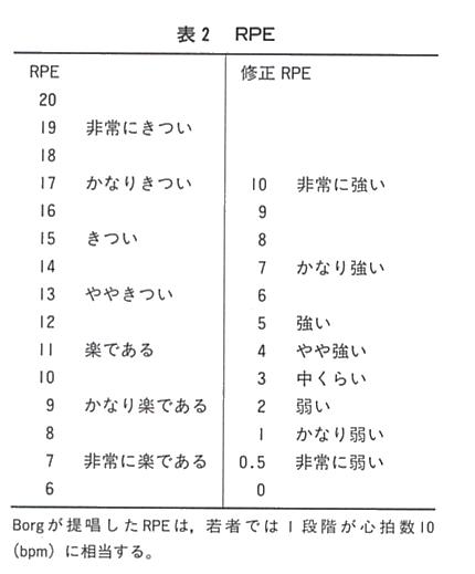 表2 RPE